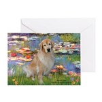 Lilies & Golden Greeting Card