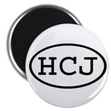 "HCJ Oval 2.25"" Magnet (10 pack)"