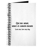 Latin Love Me, Love my dog Journal