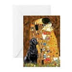 The Kiss & Black Lab Greeting Cards (Pk of 20)
