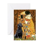The Kiss & Black Lab Greeting Card