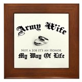 Army Wife: It's an Honor Framed Tile