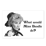 What Would Miss B (b&amp;w) Postcards (Package of 8)