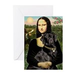 Mona's Black Lab Greeting Cards (Pk of 20)