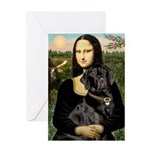 Mona's Black Lab Greeting Card