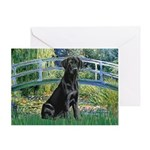 Bridge & Black Lab Greeting Card