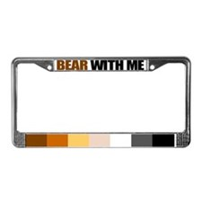 Unique Bear pride License Plate Frame