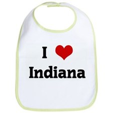 I Love Indiana Bib