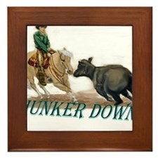 Hunker Down Framed Tile
