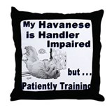 Havanese Agility Throw Pillow