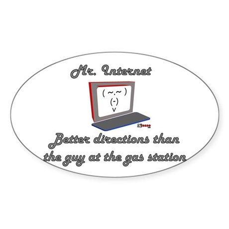 Mr. Internet Maps & Directions Oval Sticker
