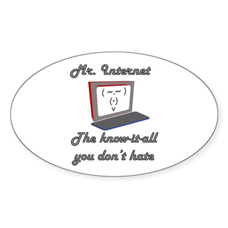 Know it all Oval Sticker