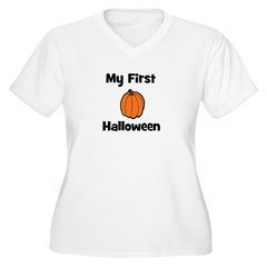 My First Halloween (pumpkin) Women's Plus Size V-N