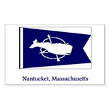 Nantucket MA Flag Rectangle Decal
