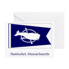 Nantucket MA Flag Greeting Cards (Pk of 20)