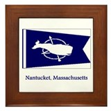 Nantucket MA Flag Framed Tile