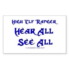 High Elf... (Gamer Sticker Rectangular)