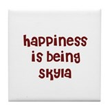 happiness is being Skyla Tile Coaster