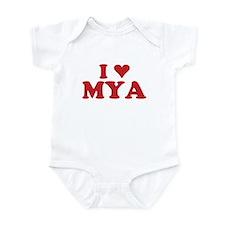I LOVE MYA Infant Bodysuit