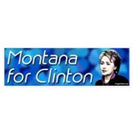Montana for Clinton bumper sticker