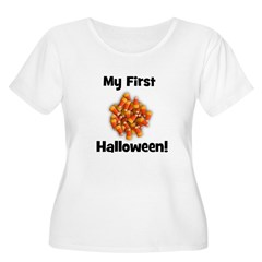 My First Halloween! (candy co Women's Plus Size Sc