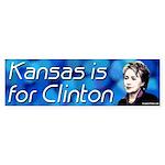 Kansas is for Clinton bumper sticker