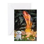 Fairies & Maltese Greeting Cards (Pk of 20)