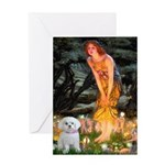 Fairies & Maltese Greeting Card