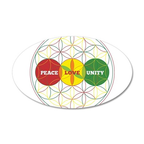 PEACE LOVE UNITY - flower of life Wall Decal