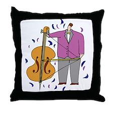 String Bass Throw Pillow