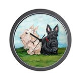 Scottish Terrier Companions Wall Clock