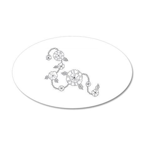 FLORAL LINEWORK Wall Decal