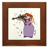 Viola Player Framed Tile