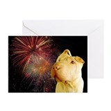 Cute 4th of july shar pei Greeting Cards (Pk of 10)