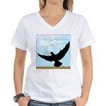Pigeon Fly Home Women's V-Neck T-Shirt