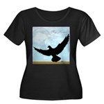 Pigeon Fly Home Women's Plus Size Scoop Neck Dark