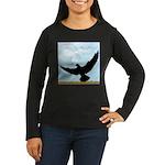 Pigeon Fly Home Women's Long Sleeve Dark T-Shirt