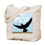 Pigeon Fly Home Tote Bag