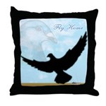 Pigeon Fly Home Throw Pillow