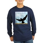 Pigeon Fly Home Long Sleeve Dark T-Shirt