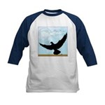 Pigeon Fly Home Kids Baseball Jersey
