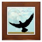 Pigeon Fly Home Framed Tile