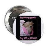 "Lucky 7 Puppymill Rescue Item 2.25"" Button (100 pa"