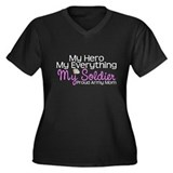 My Everything Army Mom Women's Plus Size V-Neck Da