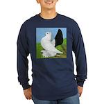 Russian Pigeon Long Sleeve Dark T-Shirt
