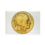 Gold Indian Head Rectangle Magnet (100 pack)