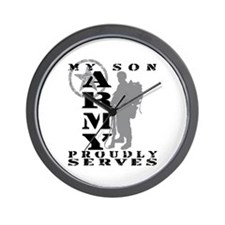 Son Proudly Serves 2 - ARMY Wall Clock