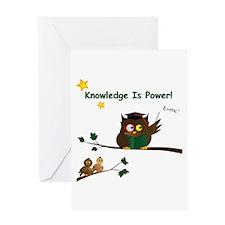 Teaching Wise Owl Greeting Card