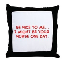 Unique Humorous nursing Throw Pillow