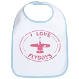I Love Flyboys -pink Bib